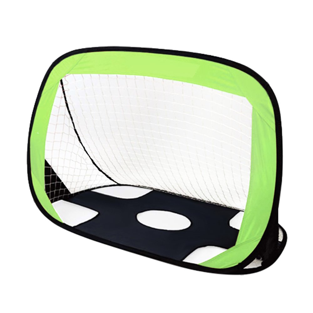 Anyshock Kids Toys Soccer Goal, 【Win Your World Champ】 2 in 1 Pop Up Youth Football Target Soccer Nets Portable with Carry Bag for Indoor & Outdoor Sports and Games (Green)