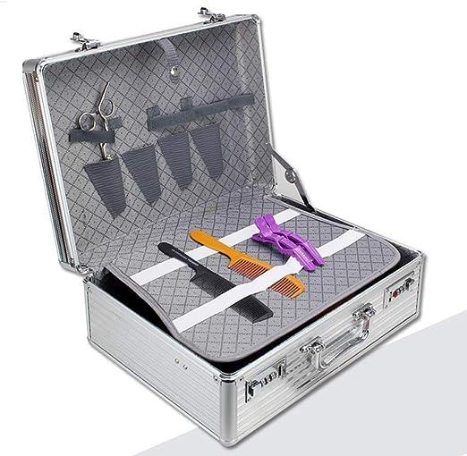 QXXNB Bolso de peluquería Herramientas de peluquería de Aluminio ...