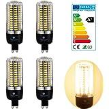 4×GreenSun 9W G9 Led économie d'énergie de maïs Ampoules SMD 5736 Équivalent Haute Puissance de la lampe Blanc Chaude 60W Incandescent Lumière