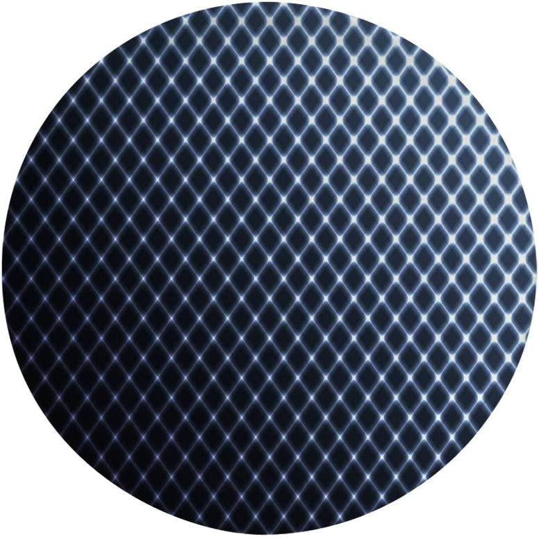 "Ylljy00 Dark Blue 6"" Dinner Plate,Diagonal Checkered Pattern Halftone Technology Inspired Modern Futuristic Ceramic Decorative Plates,Dining Table Tabletop Home Decor,Dark Blue White"