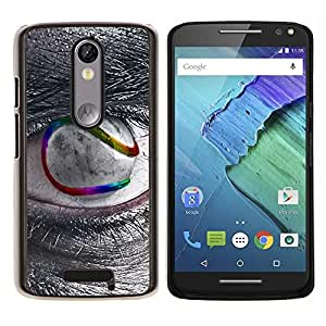 EJOOY---Cubierta de la caja de protección para la piel dura ** Motorola Moto X3 3rd Generation ** --Sci Fi de ojos