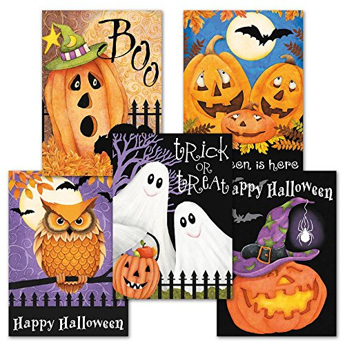 Happy Haunting Halloween Greeting Card Value Pack - Set of 12 (2 of (Happy Halloween Greetings)