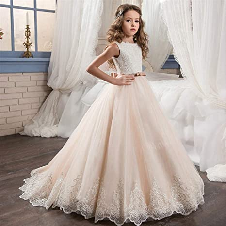 Girl kids Pageant Bridesmaid Prom Party Princess Birthday Ball Gown Formal Dress