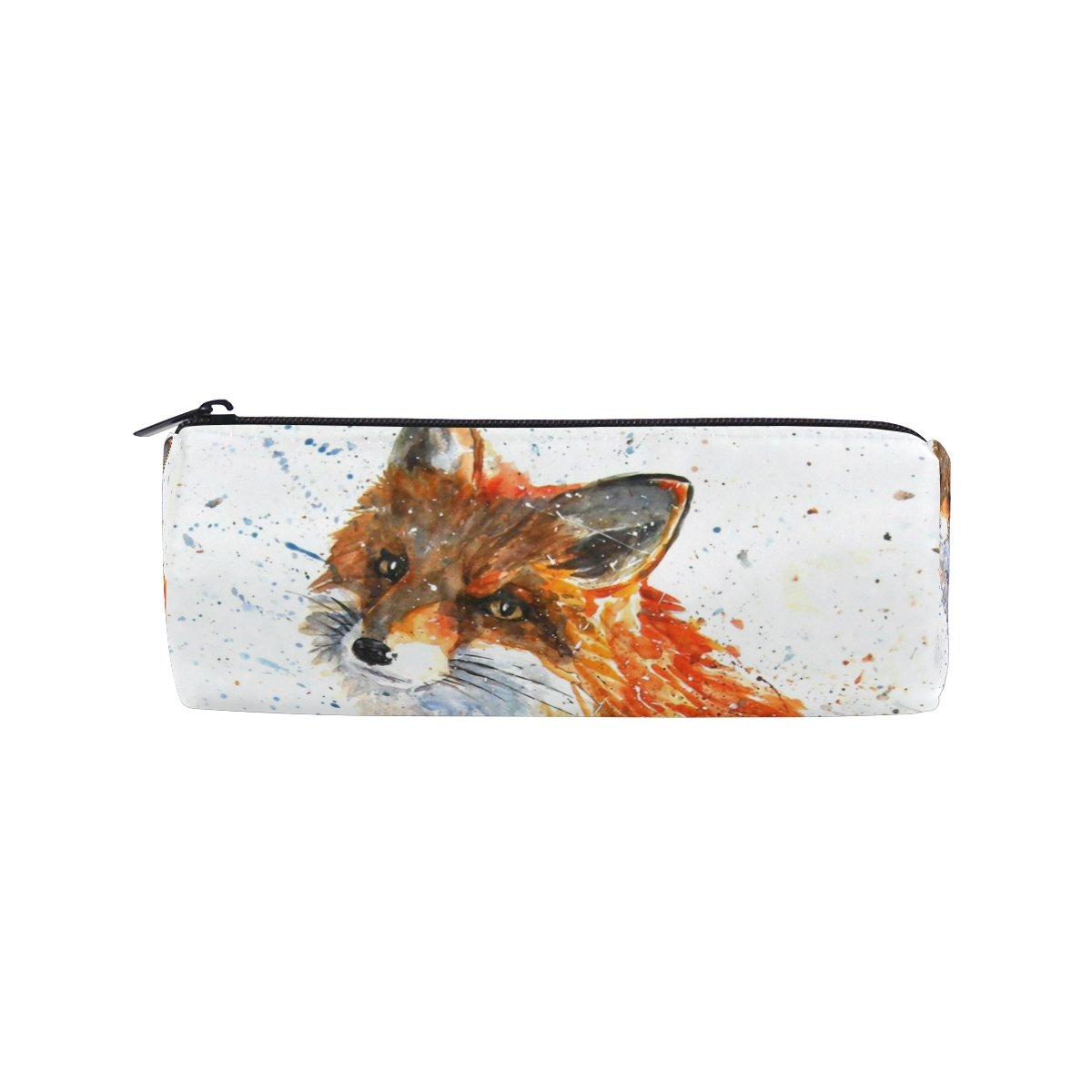 Cooper Girl Watercolor Fox Pencil Bag Pen Case Students Stationery Pouch Zipper Bag for Girls Boys Kids by Cooper girl