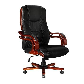casasmart fauteuil de bureau vintage similicuir noir - Fauteuil De Bureau Vintage