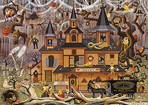 Buffalo Games - Charles Wysocki - Trick or Treat Hotel - 500 Piece Jigsaw Puzzle -
