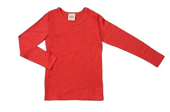 624b94a4d8f690 Kinder Unterhemd langarm Wolle Seide (104