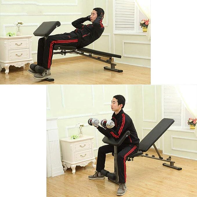 Bancos ajustables Multi-función de banco de pesas con mancuernas silla de fitness tabla de abdominales press de banca ave banco de piernas entrenador de ...