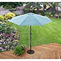 Aqua Blue 9 Foot Adjustable Tilt Patio Umbrella Outdoor Home Furniture Garden