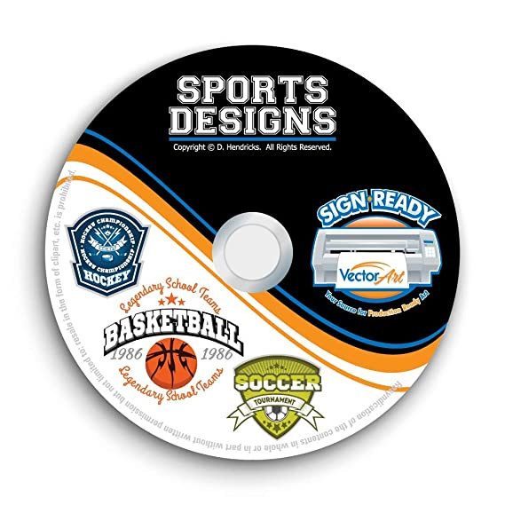 27f6c54d99c9 Amazon.com: Sports Designs Clipart-Vector Clip Art Images-T-Shirt ...