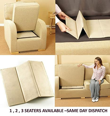ATL soporte de apoyo para asientos, tablas de lujo para rejuvenecer los sillones de 1-2-3 asientos, 3 Seater (143 x 48 cm)
