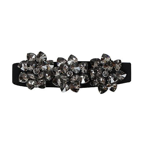 Sitong flores de diamantes de imitaci¨®n de la moda de las mujeres cintura el¨¢stica