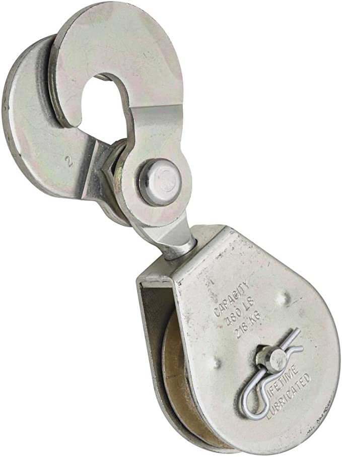 National Hardware N225-573 3215BC Swivel Hook Single Pulley in Zinc plated