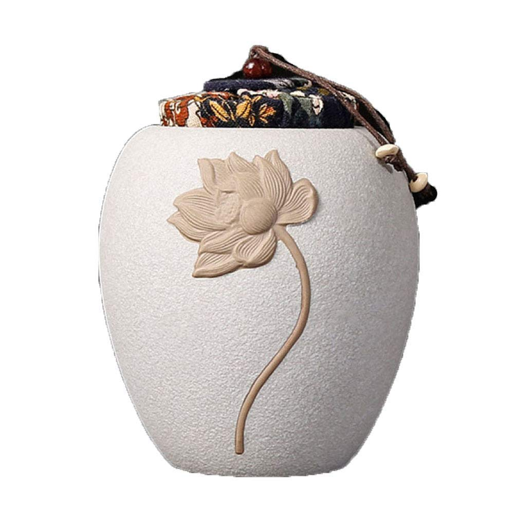 White Cremation Urns for Human Ashes Adults and Keepsake Urns Display Burial Urns at Home Or in Niche at Columbarium-10.5  15cm