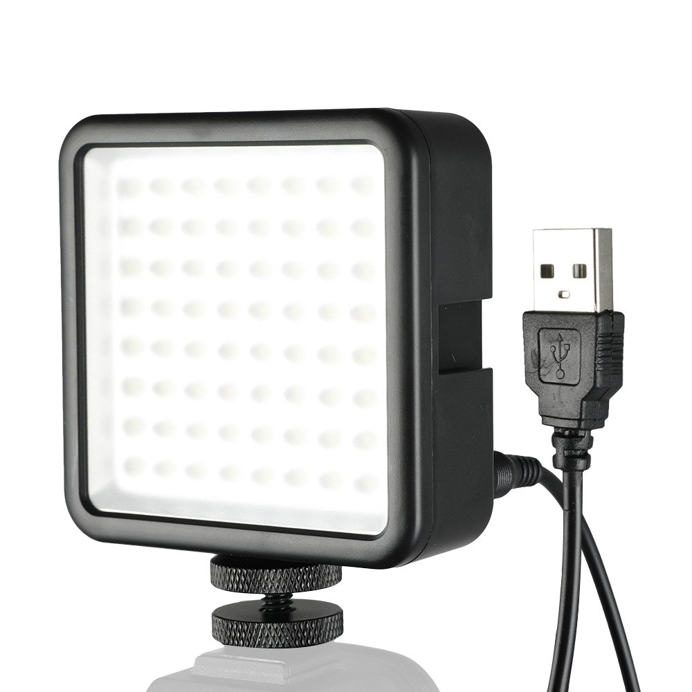 SUPON 64 LED Light Panel,Ultra-Bright Portable Dimmable Continuous Video Lighting Compatible All DSLR Cameras,Camcorder,Studio,Outdoors,Photography (USB to DC Cable)