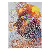 Yosemite Home Decor ARTAAA0930 Cyclonic Abstraction II Abstract Painting