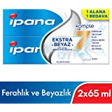 Ipana Komple Bakım Diş Macunu, 1 Alana 1 Bedava Paketi, (65 ml + 65 ml)