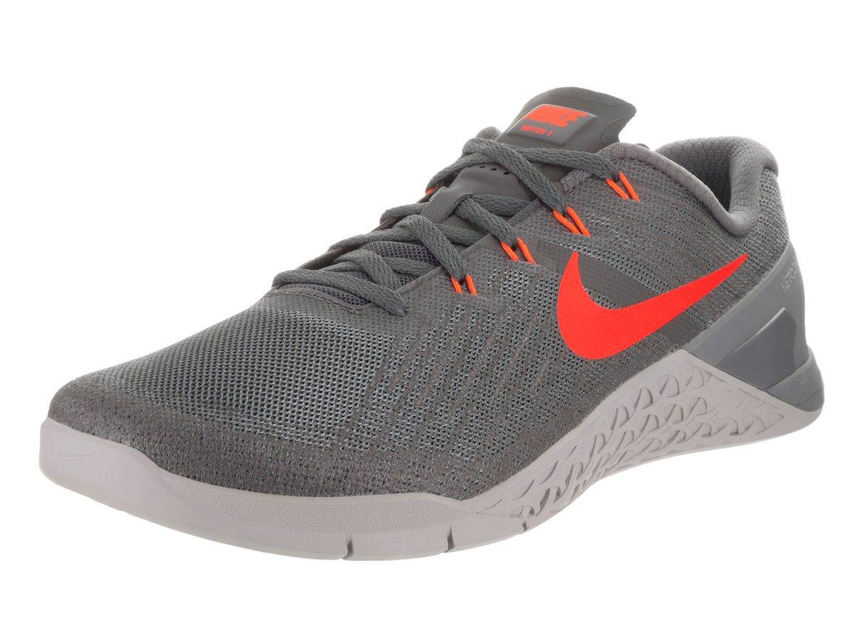 Men's Nike Metcon 3 Training Shoe Size 10 DARK GREY/HYPER CRIMSON-WOLF GREY by NIKE