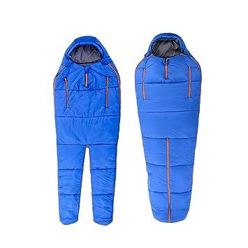 RFVBNM Saco de dormir humanoide de montaña Acampar al aire libre Saco de dormir ultraligero de algodón caliente, azul: Amazon.es: Deportes y aire libre