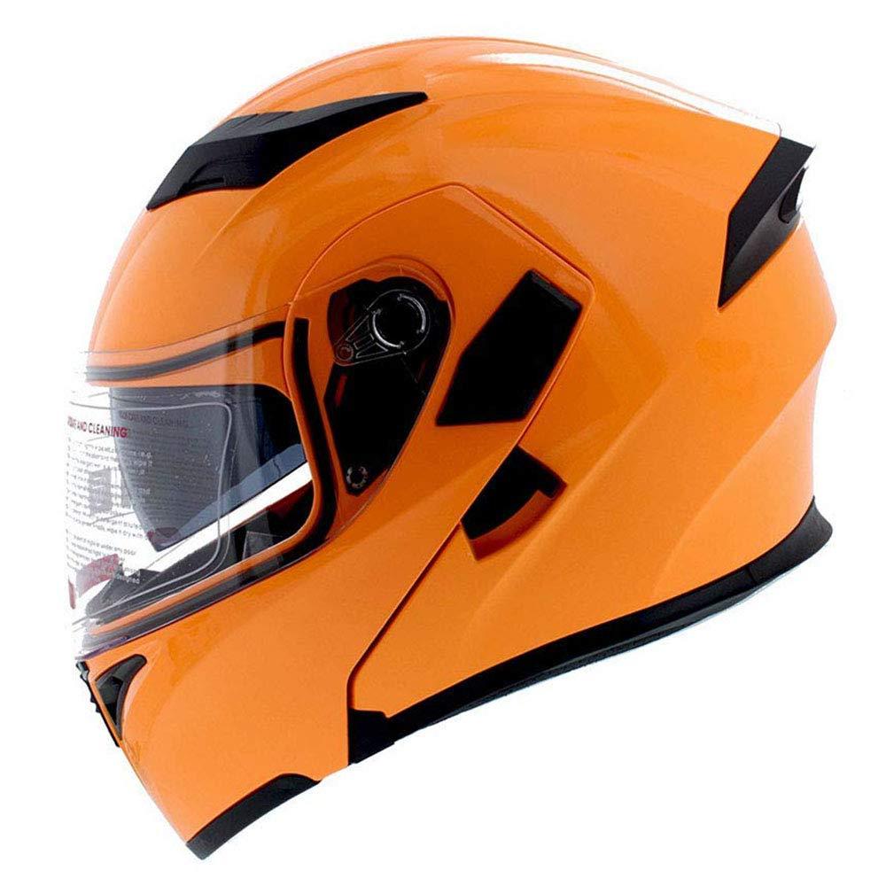 1Storm Motorcycle Modular Flip up Dual Visor Full Face Helmet Shield HB89