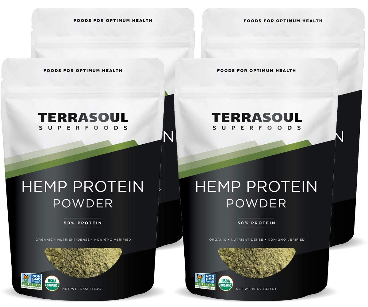 Terrasoul Superfoods Organic Hemp Protein Powder 50 Protein , 4 Pounds