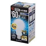 アイリスオーヤマ LED電球 口金直径26mm 60W形相当 昼白色 広配光タイプ 密閉形器具対応 LDA7N-G-6T2