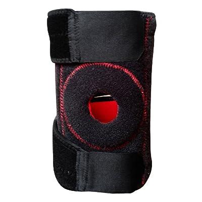 1pièce en néoprène Rotule Sports jambe Genouillère Noir manches Bande Pad de protection Bandage de support réglable 4Ressorts pour le genou