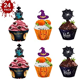 Sweepstakes: Halloween Cupcake Toppers Decorations Cupcake...