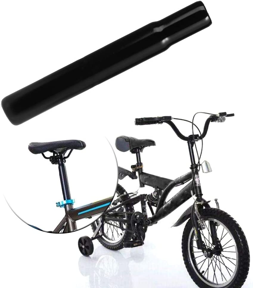 LIANXUE Bicycle Seat Post Steel 25.4mm Tube Children Bike Chair Parts Kids Cycling Black
