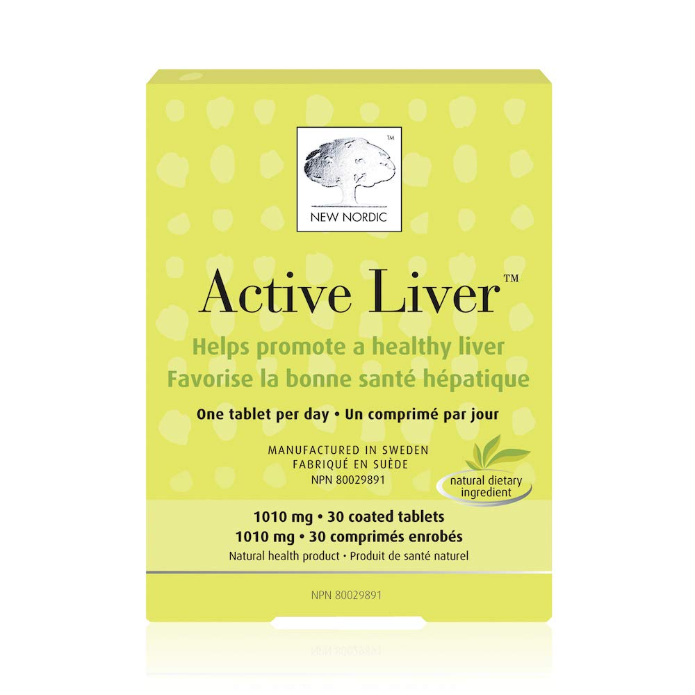 New Nordic Active Liver, 30 Tablets Daily Liver Detoxifier and Regenerator with Milk Thistle Extract, Artichoke Extract and Turmeric by New Nordic