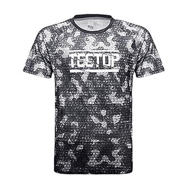 d315be1968de emansmoer Men s Camo Printing Outdoor Crew Neck Short Sleeve Sports Quick  Dry T-Shirt Casual
