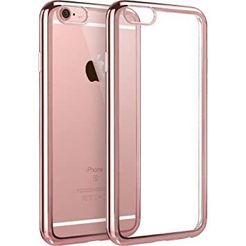 super popular 943fe 5b41f iPhone 6 / 6s [Rose Gold] Gel Case [Fusion] Gold TPU Gel Case [Drop  Protection/Shock Absorption Technology] For Apple iPhone 6 / 6s