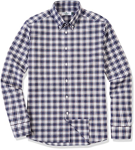 Clifton-Heritage-Mens-Classic-Fit-Long-Sleeve-Button-Down-Casual-Plaid-Sanded-Shirt