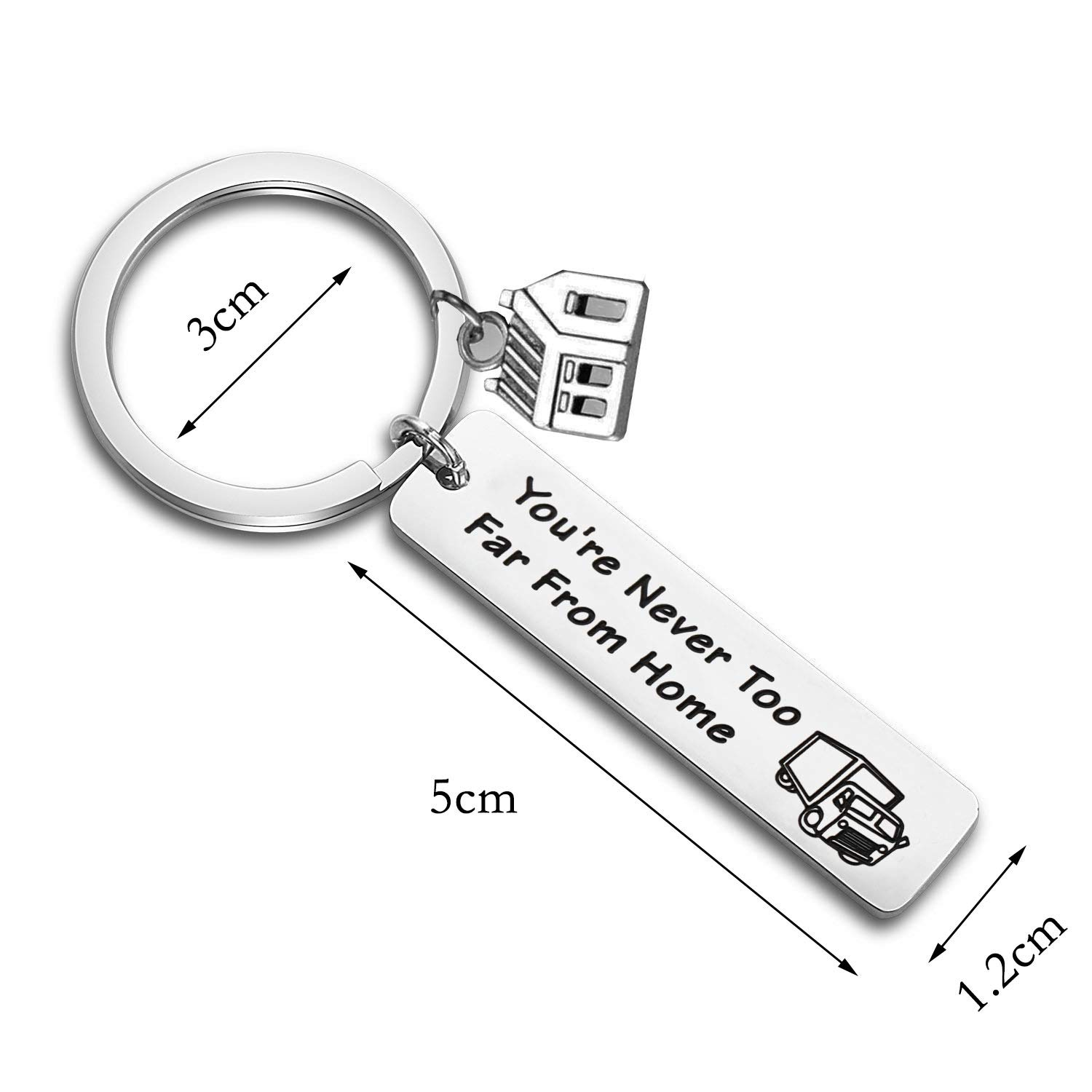 Drive Safe Keychain May Your Journey Always Bring You Home Keychain for Boyfriend Truck Driver Gifts