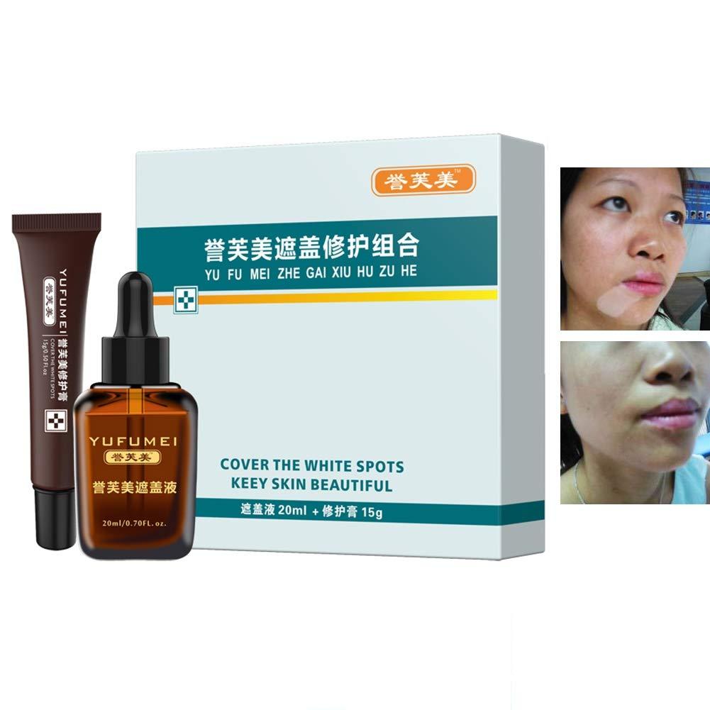 Cutelove Scar Tattoo Vitiligo Concealer Professional Makeup Cover Up Liquid Waterproof Kit for Coverage Vitiligo Cover Hiding Spots Birthmarks