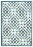 Nourison Home & Garden (HD24) Light Blue Rectangle Area Rug, 6-Feet 6-Inches by 9-Feet 9-Inches (6'6″ x 9'9″)