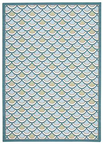 Nourison Home & Garden (HD24) Light Blue Rectangle Area Rug, 6-Feet 6-Inches by 9-Feet 9-Inches (6'6