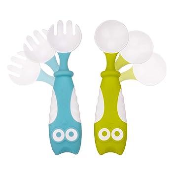 Baby Utensils Spoon Fork Cute Toddlers Children Bendable Learning Tableware Set