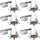"""Sunco Lighting 6 Pack of 4"""" inch Remodel LED Can Air Tight IC Housing LED Recessed Lighting- UL Listed and Title 24 Certified"""