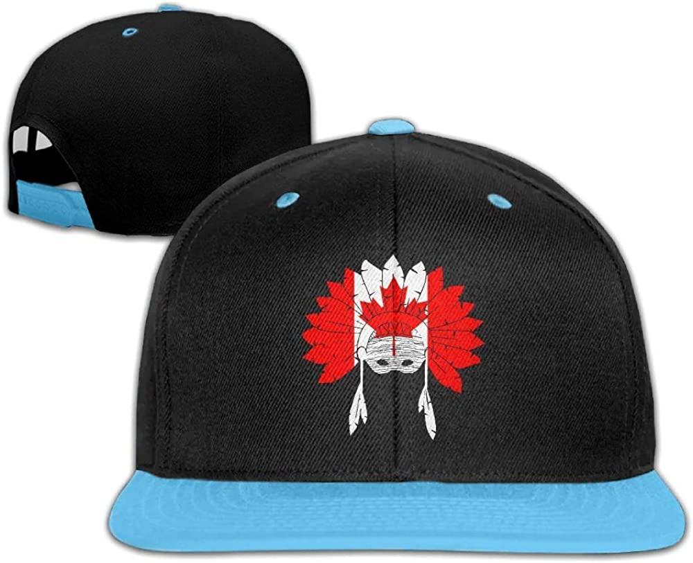 Youth Boys/&Girls Canada Native American Baseball Caps Snapback Flat Brim Caps