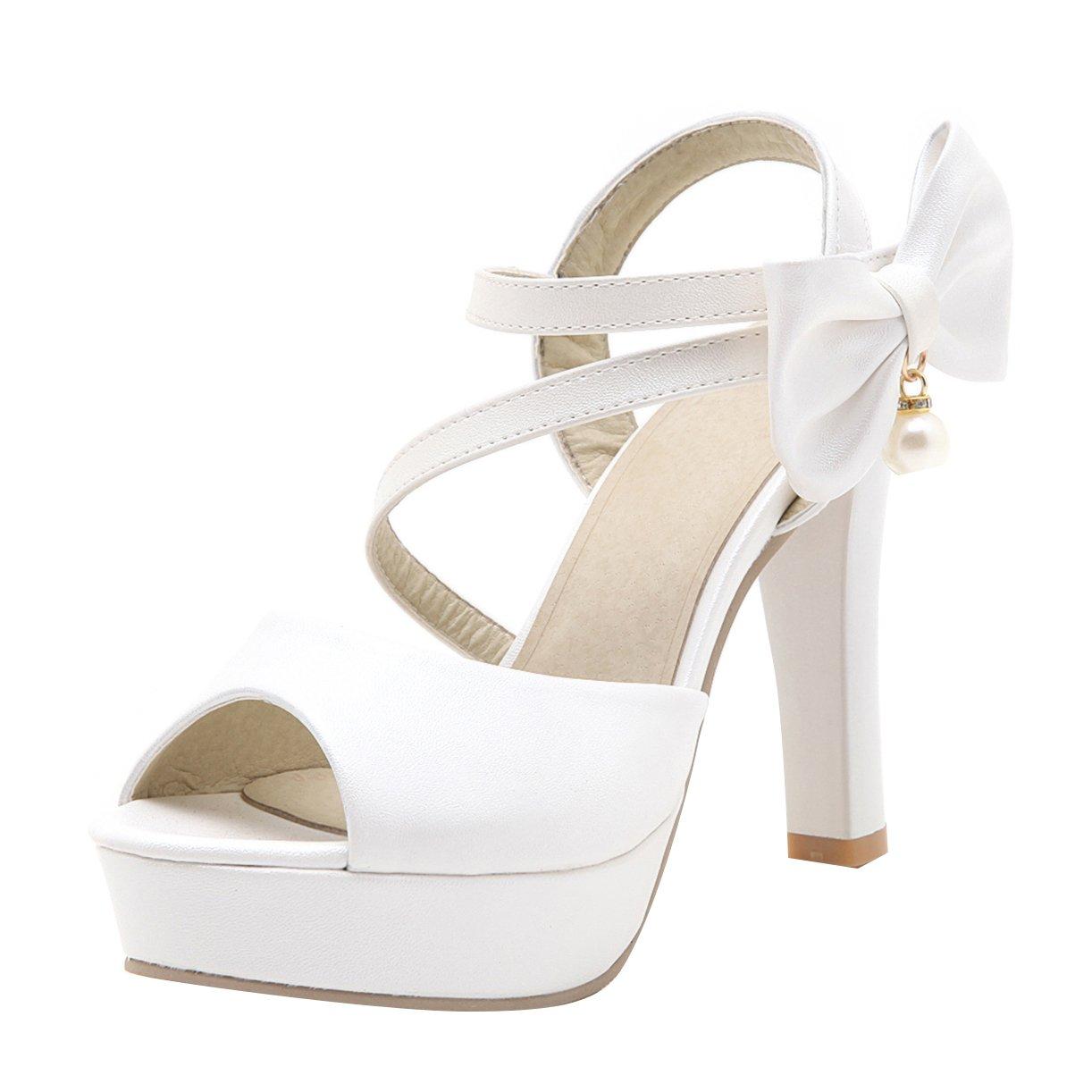 JYshoes 19582 , Plateforme Femme , B0016MZKJM Wei? 5528e1c - shopssong.space