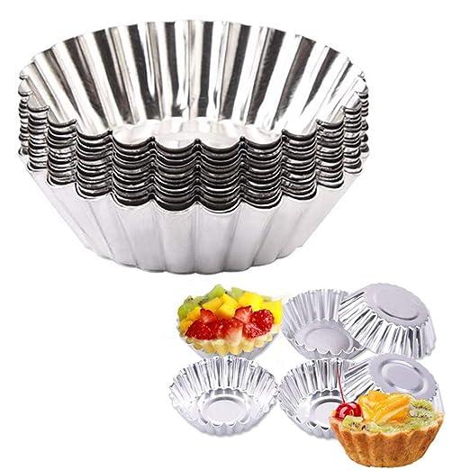 Pack de 10 tartaletas de aluminio para cup cakes, hornear ...