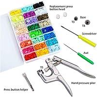 Nabowei 3600 Botones 24 Colores Snaps Plástico T5