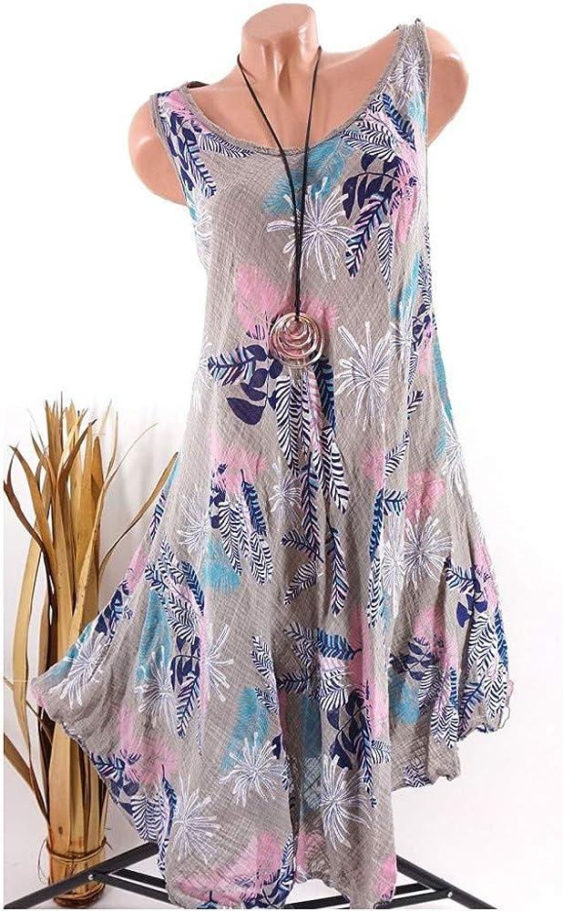 Camiseta de Verano Moda Mujeres Sin Mangas Estampado Floral Blusa Casual Tops Camisa S-5XL Tipo B: Amazon.es: Ropa y accesorios