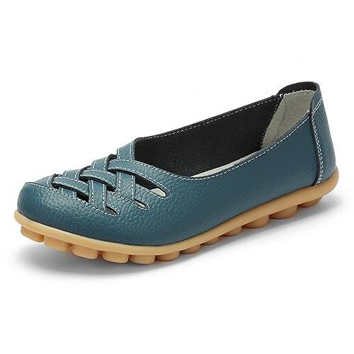 Hishoes - Mocasines de Piel para Mujer: Amazon.es: Zapatos y complementos