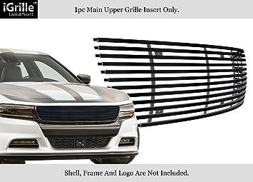 For 2015-2018 DODGE Challenger Main Upper Stainless Steel Black Billet Grille