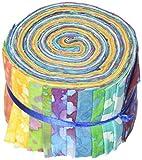 Fabric Palette 6,35 cm por 106,68 cm Cuts Jellies 100% algodón, paquete de 20, larga carretera Batik