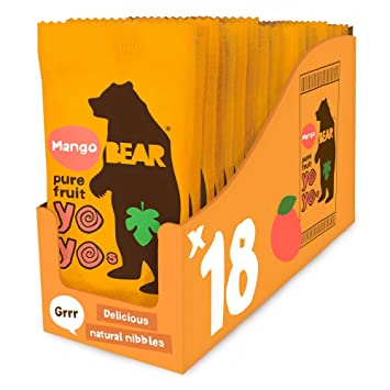 Amazon com : Bear Yoyo 100 Percent Fruit Rolls Mango 20 g