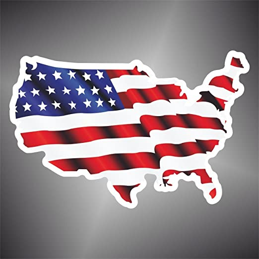 Aufkleber - Sticker flagge America United States USA map Flag ...