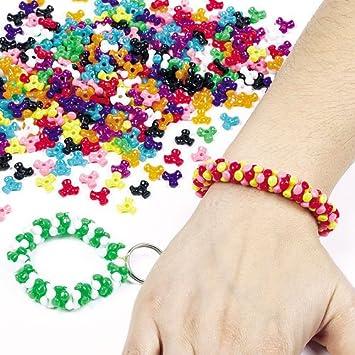 Schmuck basteln mit kindern  Tri-Perlen (Größe: 10mm) im Vorteilspack in bunten Farben zum ...